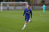 George McEachran celebrates scoring Chelsea's opening goal during Chelsea Under-19 vs AFC Ajax Under-19, UEFA Youth League Football at the Cobham Training Ground on 5th November 2019