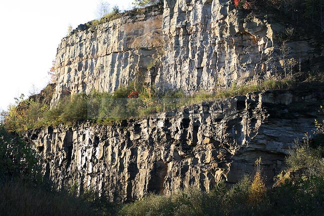 A side of a ridge has been mined in Garrett's Ridge in Jackson Kentucky. October 15, 2011. Photo by Melanie Hobgood