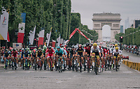 peloton racing on the iconic Champs-Elysées again for the 104th Tour de France 2017<br /> <br /> Stage 21 - Montgeron › Paris (105km)