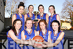 MThe Presentation Tralee Basketball team who qualified fro an All-Ireland quarter Final in Cadet A Front from left: Niamh Myres, Geace Courtney, Meave Carmody and Lorna Foley. Back from left: Danielle Pearse, Ciara Kilgallon, Grainne Quigley and Alison Moriarty, Missing from picture is Jane Carmody.