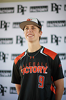 Aidan Kelly (9) of Los Gatos High School in Los Gatos, California during the Baseball Factory All-America Pre-Season Tournament, powered by Under Armour, on January 12, 2018 at Sloan Park Complex in Mesa, Arizona.  (Zachary Lucy/Four Seam Images)