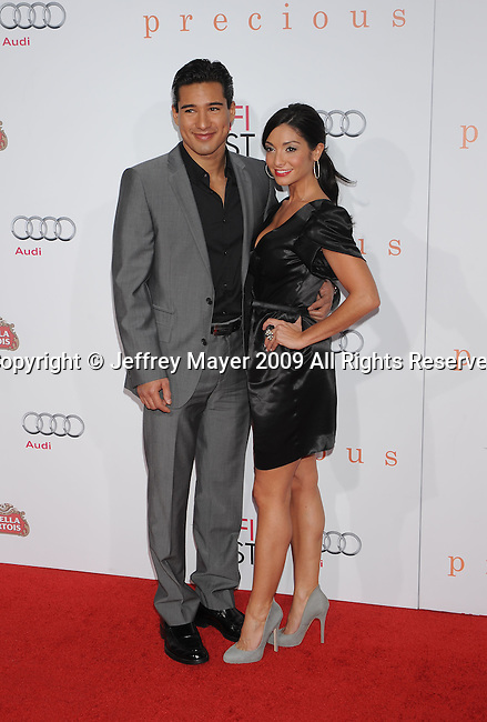 HOLLYWOOD, CA. - November 01: Mario Lopez and Courtney Mazza arrive at AFI FEST 2009 Screening Of Precious: Based On The Novel 'PUSH' By Sapphire at Grauman's Chinese Theatre on November 1, 2009 in Hollywood, California.
