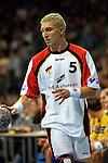 Handball Maenner Laenderspiel, Nationalmannschaft Deutschland - Schweden (31:31) Preussag Arena Hannover (Germany) Stefan Kretzschmar (GER) mit Ball