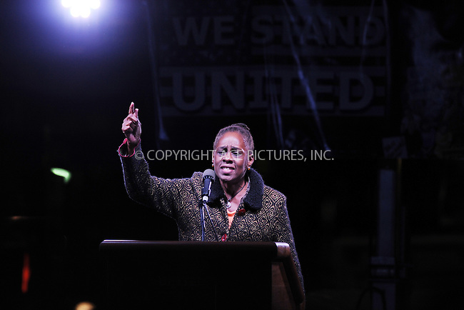 www.acepixs.com<br /> January 19, 2017  New York City<br /> <br /> Chirlane McCray speaks during the We Stand United Rally outside Trump International Hotel &amp; Tower on January 19, 2017 in New York City.<br /> <br /> Credit: Kristin Callahan/ACE Pictures<br /> <br /> Tel: 646 769 0430<br /> Email: info@acepixs.com