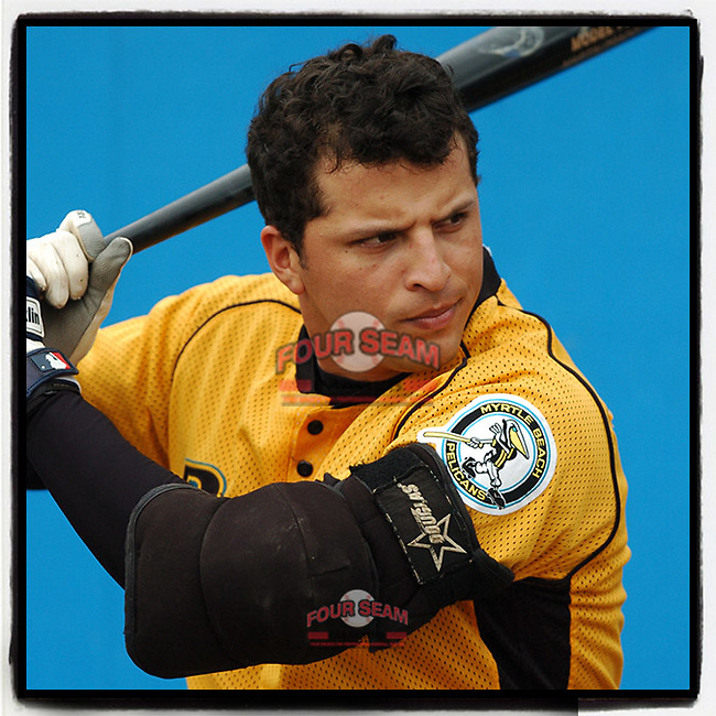 #OTD On This Day, May 15, 2005, Martin Prado of the Myrtle Beach Pelicans played a game at Pfitzner Stadium in Woodbridge, Va. He later played with Arizona and Miami in addition to being an All-Star with Atlanta. He is now a free agent. (Tom Priddy/Four Seam Images) #MiLB #OnThisDay #MissingBaseball #nobaseball #stayathome #minorleagues #minorleaguebaseball #Baseball #SallyLeague #AloneTogether