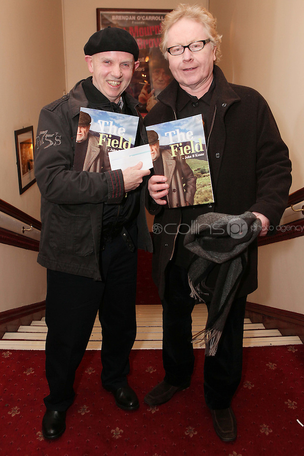"""NO REPRO FEE. 17/1/2010. The Field opening night. Brush Shiels and Paul Brady are pictured at the Olympia Theatre for the opening night of John B Keanes 'The Field"""" Picture James Horan/Collins"""
