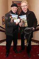 "NO REPRO FEE. 17/1/2010. The Field opening night. Brush Shiels and Paul Brady are pictured at the Olympia Theatre for the opening night of John B Keanes 'The Field"" Picture James Horan/Collins"