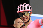 Sergio Andrés Higuita García (COL) EF Education First at sign on before the start of Stage 4 of La Vuelta 2019 running 175.5km from Cullera to El Puig, Spain. 27th August 2019.<br /> Picture: Eoin Clarke | Cyclefile<br /> <br /> All photos usage must carry mandatory copyright credit (© Cyclefile | Eoin Clarke)