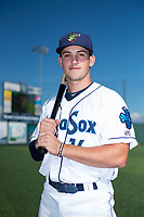 Everett AquaSox infielder Ryne Ogren (16) poses for a photo before a Northwest League game against the Tri-City Dust Devils at Everett Memorial Stadium on September 3, 2018 in Everett, Washington. The Everett AquaSox defeated the Tri-City Dust Devils by a score of 8-3. (Zachary Lucy/Four Seam Images)