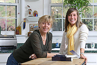 {November 7, 2009} 11:24:14 AM -- Fredericksburg, VA. -- Jody Williams, a Nobel Peace prize winner for her work in eradicating land mines, left, has pulled together a cookbook with recipes from other Nobel laureates and people who have worked for peace. She did the work in combination with her stepdaughter Emily Goose, right, as part of Emily's high school senior project.  ... -- ...Photo by Andrew B. Shurtleff, Freelance.