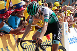 Emanuel Buchmann (GER) Bora-Hansgrohe crosses the finish line in 4th place atop the Col du Tourmalet at the end of Stage 14 of the 2019 Tour de France running 117.5km from Tarbes to Tourmalet Bareges, France. 20th July 2019.<br /> Picture: Colin Flockton | Cyclefile<br /> All photos usage must carry mandatory copyright credit (© Cyclefile | Colin Flockton)