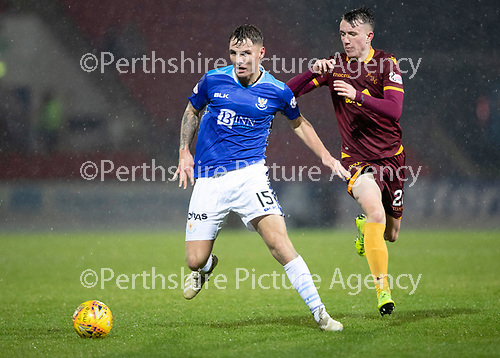 St Johnstone v Motherwell…15.12.18…   McDiarmid Park    SPFL<br />Jason Kerr and David Turnbull<br />Picture by Graeme Hart. <br />Copyright Perthshire Picture Agency<br />Tel: 01738 623350  Mobile: 07990 594431