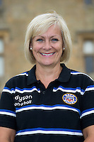 Sarah Moore poses for a portrait at a Bath Rugby photocall. Bath Rugby Media Day on August 28, 2014 at Farleigh House in Bath, England. Photo by: Rogan Thomson for Onside Images