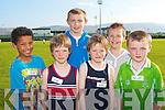 COMPETING: Competing in the Manor Community Games at the Tralee Sports Complex on Thursday l-r: Michael Everett, Tim Pollmann-Daamen, Diarmuid O'Connor Sean Pollmann-Daamen, Darragh Hurley and Enda O'Connor.