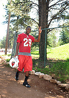 Jul 30, 2008; Flagstaff, AZ, USA; Arizona Cardinals cornerback (29) Dominique Rodgers-Cromartie during training camp on the campus of Northern Arizona University. Mandatory Credit: Mark J. Rebilas-