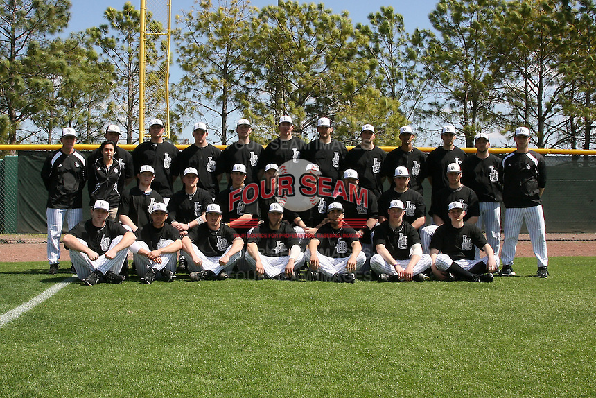 March 13, 2010:  Long Island University Blackbirds in a game vs. Army at Henley Field in Lakeland, FL.  Pictured (no order):  Drew Walsh, Paul Lopez, Skye Freeman, Gerard Tingos, Brad Reimer, Chris Kievit, Matt Owens, Evan Zerff, Chris Franzese, Albert Faz, Derek Stupski, Tyler Jones, Tito Marrero, Greg DeSantis, Dan Iglesias, Matt McCormick, Julian Castro, Matt Valle, Jesse Johnson, Kenny Cedel, Sam Sciamarelli, Justin Topa, Adam Sauter, Emerson Morillo, Luke Hammond, Bryan Saffelle, Joe Murphy, Don Maines, Craig Noto, Dan Pirillo, Chris Reyes, Couri Benz.  Photo By Mike Janes/Four Seam Images
