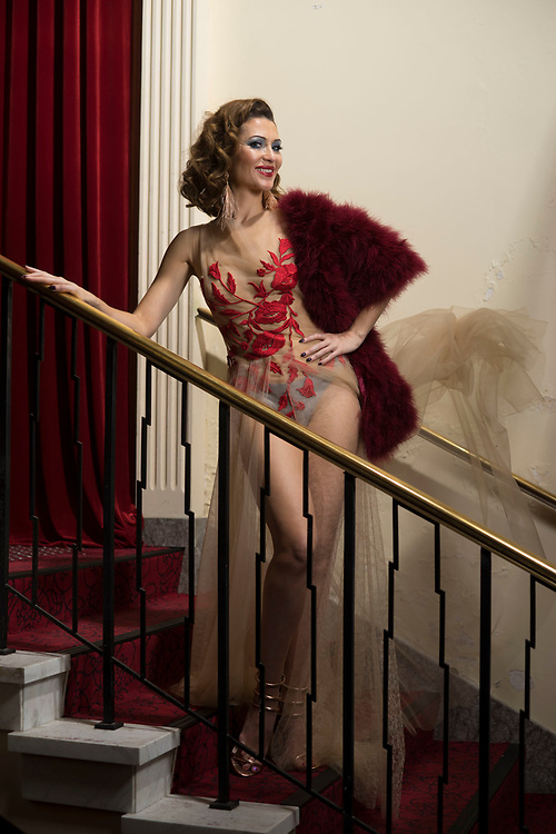 Sunday Mail, Fashion with Mirella Cabert Festival at Her Magesty's theartre  with Caberet performer Gypsy Wood. Photo: Nick Clayton