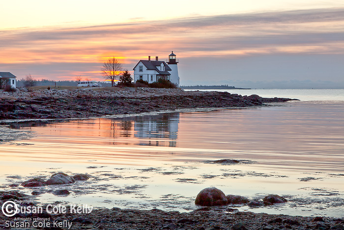 Prospect Harbor Light at sunrise, Prospect Harbor, Gouldsboro, ME, USA