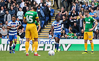 Reading's Yakou Meite (2nd right) celebrates scoring his side's first goal <br /> <br /> Photographer Andrew Kearns/CameraSport<br /> <br /> The EFL Sky Bet Championship - Reading v Preston North End - Saturday 30th March 2019 - Madejski Stadium - Reading<br /> <br /> World Copyright © 2019 CameraSport. All rights reserved. 43 Linden Ave. Countesthorpe. Leicester. England. LE8 5PG - Tel: +44 (0) 116 277 4147 - admin@camerasport.com - www.camerasport.com
