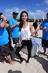 MIAMI BEACH, FL - FEBRUARY 20: Lily Aldridge participates in Sports Illustrated Swimsuit 2014 Beach Volleyball:Models & Celebrity Chefs on February 20, 2014 in Miami Beach, Florida. (Photo by Johnny Louis/jlnphotography.com)
