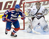 Shayne Thompson (Lowell - 23), Parker Milner (BC - 35) - The Boston College Eagles defeated the visiting University of Massachusetts-Lowell River Hawks 5-3 (EN) on Saturday, January 22, 2011, at Conte Forum in Chestnut Hill, Massachusetts.