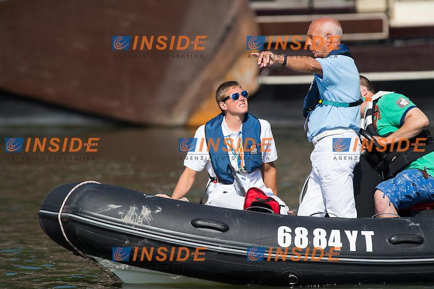 Judges<br /> Hoorn, Netherlands <br /> LEN 2016 European Open Water Swimming Championships <br /> Open Water Swimming<br /> Women's 5km<br /> Day 02 12-07-2016<br /> Photo Giorgio Perottino/Deepbluemedia/Insidefoto