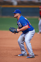Chicago Cubs Dan Vogelbach (22) during an instructional league game against the Texas Rangers on October 5, 2015 at the Surprise Stadium Training Complex in Surprise, Arizona.  (Mike Janes/Four Seam Images)