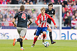 Antoine Griezmann of Atletico de Madrid (C) in action during the La Liga 2017-18 match between Atletico de Madrid and Athletic de Bilbao at Wanda Metropolitano  on February 18 2018 in Madrid, Spain. Photo by Diego Souto / Power Sport Images