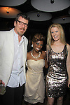 The Gossip Table starring host Delaina Dixon (Daily Gals Diva) poses with The Real Housewives NY (ex) Simon and Alex McCord at the Launch Party to celebrate our new VH1 morning show beginning June 3 - party was on May 30, 2013 at Catch Roof, New York City, New York. (Photo by Sue Coflin/Max Photos)