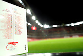 29th January 2019, Emirates Stadium, London, England; EPL Premier League Football, Arsenal versus Cardiff City; Emiliano Sala' name is printed in the Cardiff City squad listing in the match day program