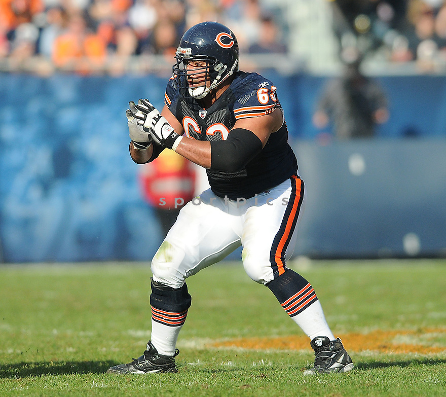 ROBERTO GARZA, of the Chicago Bears, in action during the Bears game against the Arizona Cardinals on November 8, 2009 in Chicago, IL. Cardinals won 41-21.