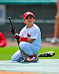 1 March 2009: St. Louis Cardinals' first baseman Albert Pujols' son, A.J. Alberto, Jr., holds his dad's baseball bat prior to a Spring Training game against the Florida Marlins at Roger Dean Stadium in Jupiter, Florida. The Cardinals outhit the Marlins 20-13 resulting in a 14-10 win for the Cards. Mandatory Photo Credit: Ed Wolfstein Photo