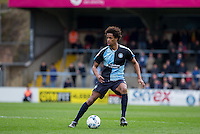 Sido Jombati of Wycombe Wanderers in action during the Sky Bet League 2 match between Wycombe Wanderers and Barnet at Adams Park, High Wycombe, England on 16 April 2016. Photo by Andy Rowland.