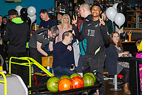 Pictured: Rhian Brewster of Swansea City during the Swansea player and fans bowling evening at Tenpin Swansea, Swansea, Wales, UK. Wednesday 22 January 2020