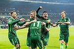 12.03.2018, Weserstadion, Bremen, GER, 1.FBL, SV Werder Bremen vs 1. FC Koeln<br /> <br /> im Bild<br /> Milot Rashica (Werder Bremen #11) bejubelt seinen Treffer zum 2:1, mit Teamkollegen, Florian Kainz (Werder Bremen #7), Zlatko Junuzovic (Werder Bremen #16), Maximilian Eggestein (Werder Bremen #35), Ludwig Augustinsson (Werder Bremen #5), <br /> <br /> Foto &copy; nordphoto / Ewert