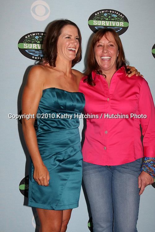 "Kelly Wiglesworth, Susan Hawk .arrivng at the ""Survivor"" 10 Year Anniverary Party .CBS Television CIty.Los Angeles, CA.January 9, 2010.©2010 Kathy Hutchins / Hutchins Photo...."