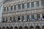 Team presentation held on the Grand-Place before the 2019 Tour de France starting in Brussels, Belgium. 4th July 2019<br /> Picture: Colin Flockton | Cyclefile<br /> All photos usage must carry mandatory copyright credit (© Cyclefile | Colin Flockton)