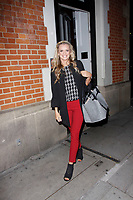 LONDON, ENGLAND - OCTOBER 08 :  Nadiya Bychkova leaves the production of 'Strictly Come Dancing : It Takes Two', at The Hospital Club Studios on October 08, 2018 in London, England.<br /> CAP/AH<br /> &copy;AH/Capital Pictures