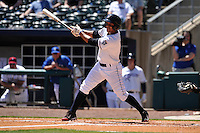 Northwest Arkansas Naturals Ramon Torres (2) swings during the game against the Springfield Cardinals at Arvest Ballpark on May 4, 2016 in Springdale, Arkansas.  Springfield won 10-6.  (Dennis Hubbard/Four Seam Images)