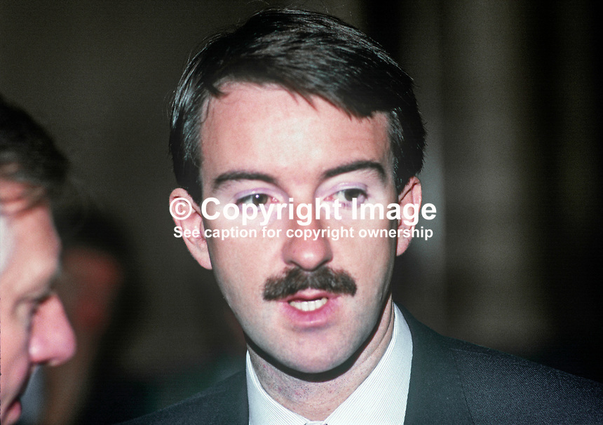 Peter Mandelson, Head of Communications, Labour Party, UK, 19860932PM<br /> <br /> Copyright Image from Victor Patterson, 54 Dorchester Park, <br /> Belfast, UK, BT9 6RJ<br /> <br /> t1: +44 28 9066 1296 (from Rep of Ireland 048 9066 1296)<br /> t2: +44 28 9002 2446 (from Rep of Ireland 048 9002 2446)<br /> m: +44 7802 353836<br /> <br /> e: victorpatterson@me.com<br /> www.victorpatterson.com<br /> <br /> Please see my Terms and Conditions of Use at www.victorpatterson.com. It is IMPORTANT that you familiarise yourself with them.<br /> <br /> Images used on the Internet must be visibly watermarked i.e. &copy; Victor Patterson<br /> within the body of the image and copyright metadata must not be deleted. Images <br /> used on the Internet have a size restriction of 4kbs and will be chargeable at current<br />  NUJ rates unless agreed otherwise.<br /> <br /> This image is only available for the use of the download recipient i.e. television station, newspaper, magazine, book publisher, etc, and must not be passed on to any third <br /> party. It is also downloaded on condition that each and every usage is notified within 7 days to victorpatterson@me.com<br /> <br /> The right of Victor Patterson to be identified as the author is asserted in accordance with The Copyright Designs And Patents Act (1988). All moral rights are asserted.