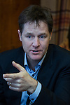 © Joel Goodman - 07973 332324 . 15/01/2015 . Stockport , UK . Deputy Prime Minister NICK CLEGG meets with members of High Lane Residents' Association at the Red Lion Inn , High Lane , Hazel Grove . Photo credit : Joel Goodman