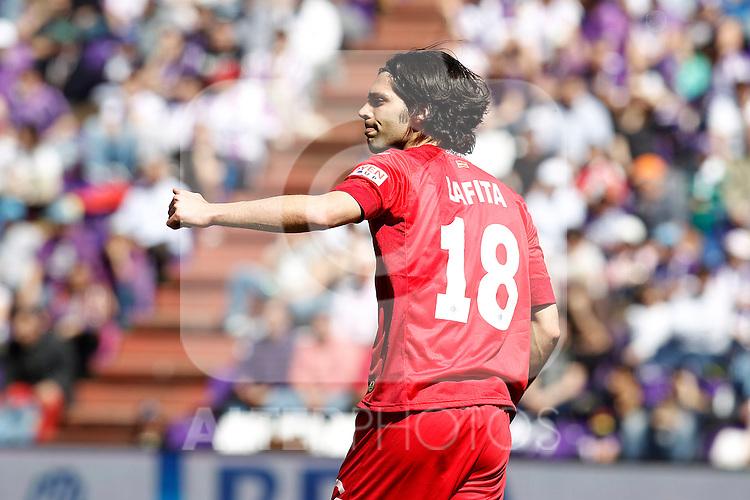Getafe's Angel Lafita during La Liga match.April 13,2013. (ALTERPHOTOS/Acero)