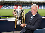 Jim Jefferies at the Petrofac Cup draw at Hampden today