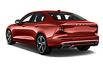 Car pictures of rear three quarter view of a 2019 Volvo S60 R-Design 4 Door Sedan angular rear