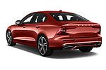 Car pictures of rear three quarter view of a 2019 Volvo S60 R-Design 4 Door Sedan angular rear