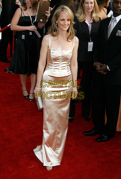 HELEN HUNT.Red Carpet Arrivals - 13th Annual Screen Actors Guild (SAG) Awards, held at the Shrine Auditorium, Los Angeles, California, USA, 28 January 2007..full length cream biege silk satin dress.CAP/ADM/RE.©Russ Elliot/AdMedia/Capital Pictures.