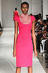 Model walks runway in an outfit from the Thula Sindi Spring Summer 2015 collection, during Fashion Week Brooklyn Spring Summer 2015.
