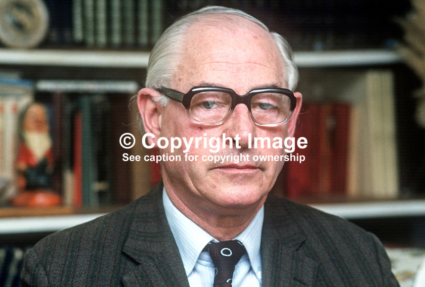 Stephen McGonigle, Londonderry, trade unionist, politician, N Ireland Ombudsman, 1974 to 1979, 197803000114c<br />