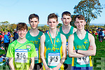 Michael Nix, Darren Doyle,-O'Brien, Luke O'Callaghan, An Riocht runners Darragh Lynch and Brendan O'Connell at the Kerry Cross Country finals in Firies on Sunday