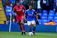 1st February 2020; St Andrews, Birmingham, Midlands, England; English Championship Football, Birmingham City versus Nottingham Forest; Jérémie Bela of Birmingham City brings the ball back looking for a Birmingham City player to pass the ball to